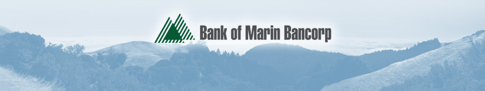 Bank Of Marin Bancorp Logo and Banner