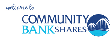 welcome to Community Bank Shares