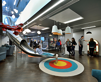 tech office alternative. The London Offices Of Ticket Booking Company Ticketmaster Has Incorporated Some Alternative Design Features First Seen In Workplaces Tech Office O